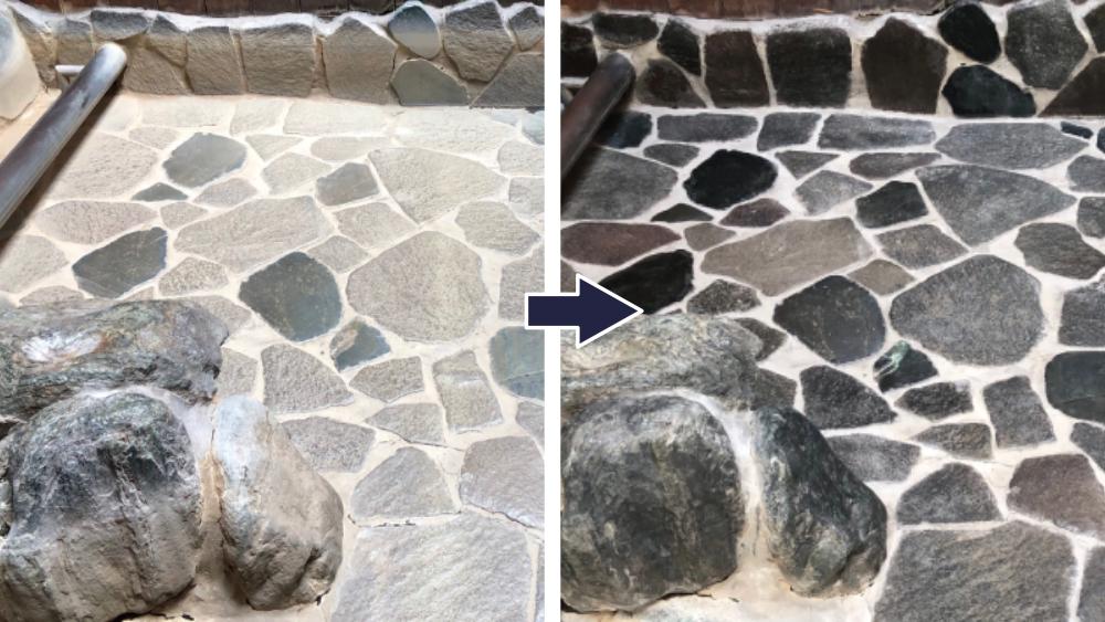 石材タイルのコート 特殊清掃+特殊コーティング 施工事例